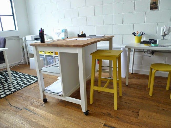 Cutting table on casters STENSTORP Kitchen island ikea