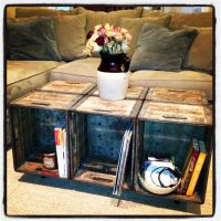 Upcycled Milk Crates Into Coffee Table | Homey ...