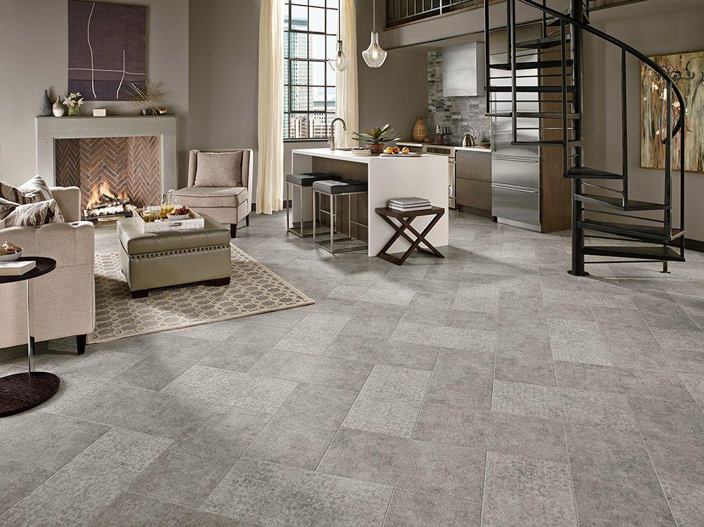 Armstrong Luxury Vinyl Tile Flooring   LVT   Gray 12x24 Patterned tile   Herringbone ...