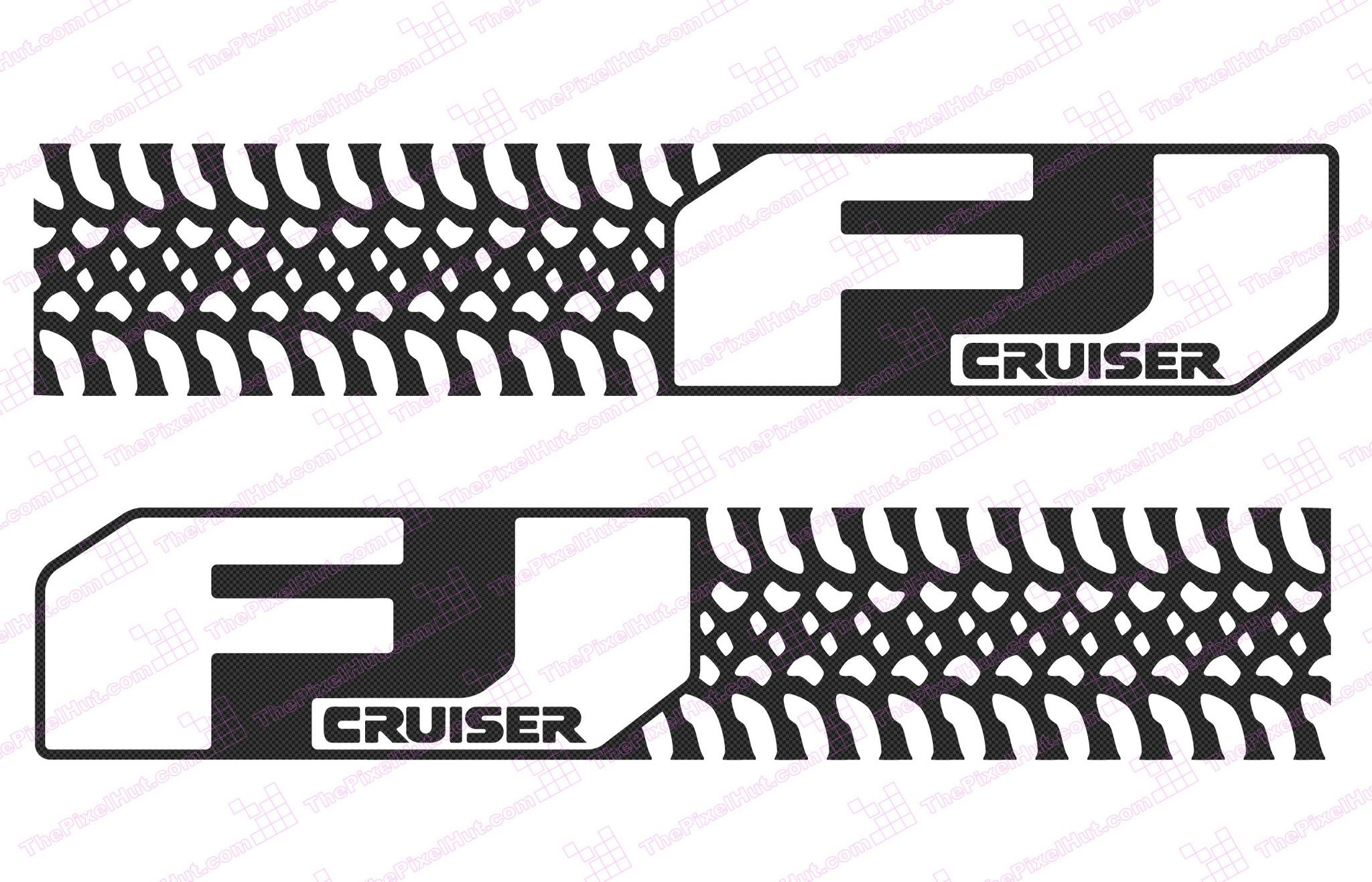 Toyota Fj Cruiser Tire Design Negative Door Decal Kit