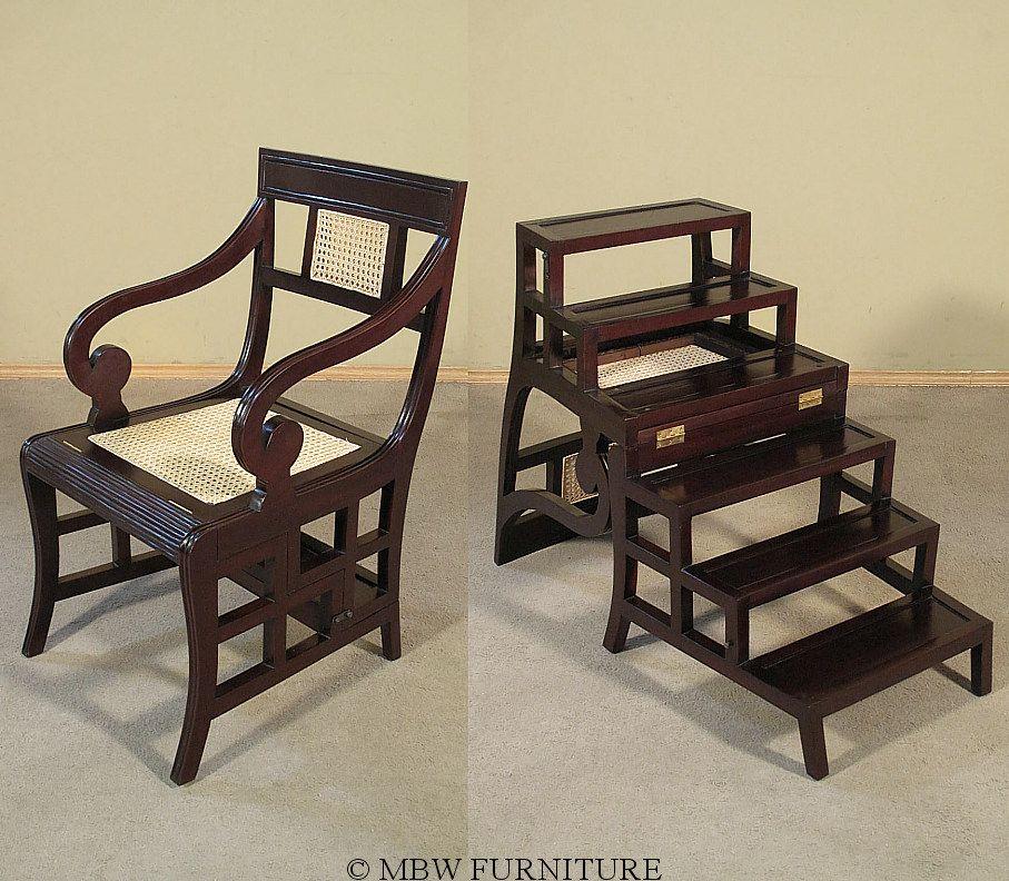 Library ladder chair  Stowaway  Pinterest  Ladder