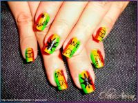 Rasta nail art | Nail art | Pinterest | Nail art, Art and ...