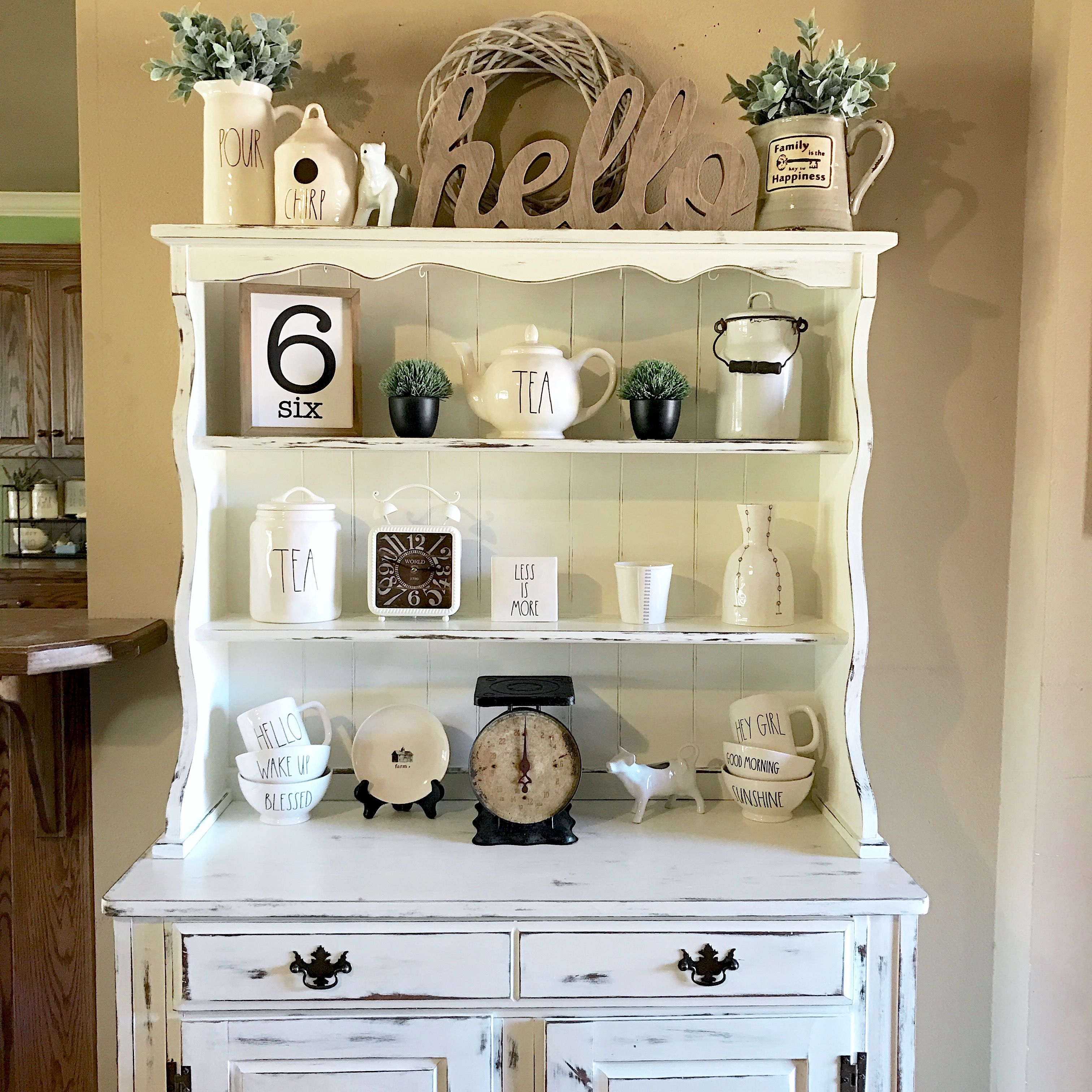 kitchen hutch ideas how to add a pantry your my that i chalk painted and distressed for rae