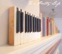 Piano Key Wall Art   Antique Piano Keys - To a Pretty Life ...