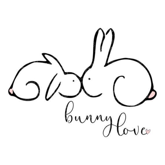 Download SVG - Bunny Love - Easter SVG - Easter Bunny - Love ...
