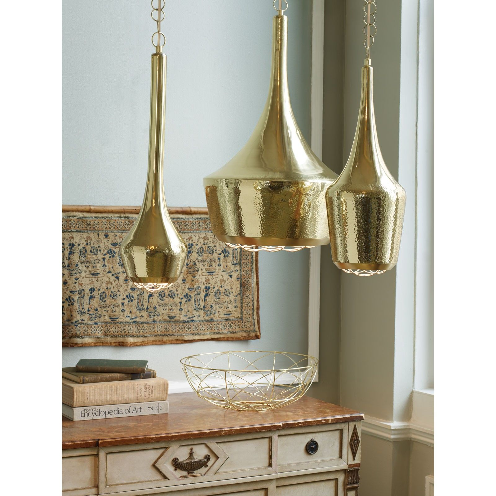 Large Gold Pendant Light