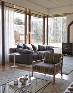 Eoin lyons interiors living room with sofa and oak armchair from orior by design also the best projects lyonskelly interiodesign   jays rh pinterest