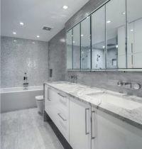 Choosing New Bathroom Design Ideas 2016. Gray color theme ...