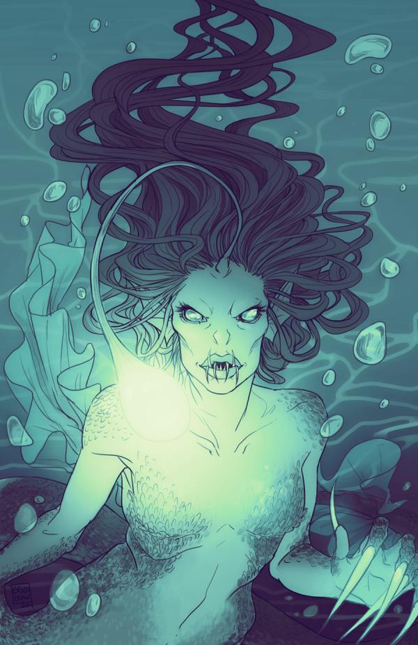 Pin Cali Anglerfish Scary Mermaid