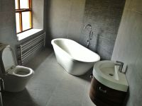 My New Bathroom: feature wall with slate tiles, light grey ...