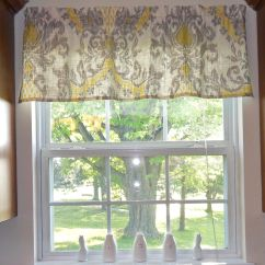 Kitchen Valances For Windows Kitchenaid Guest Grey Yellow Love This Pattern Tute Making It With