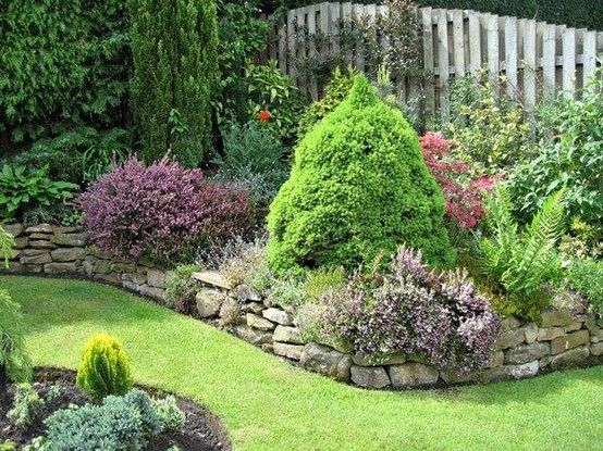 Garden Trim Ideas Border Garden With Rock Edging By Amie