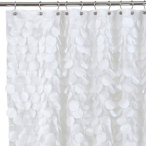 Gigi 54 Inch X 78 Inch Fabric Shower Curtain In White Sheridan