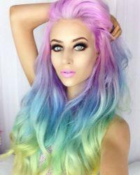 Rainbow dyed hair color | Hair ideas | Pinterest | Dye ...