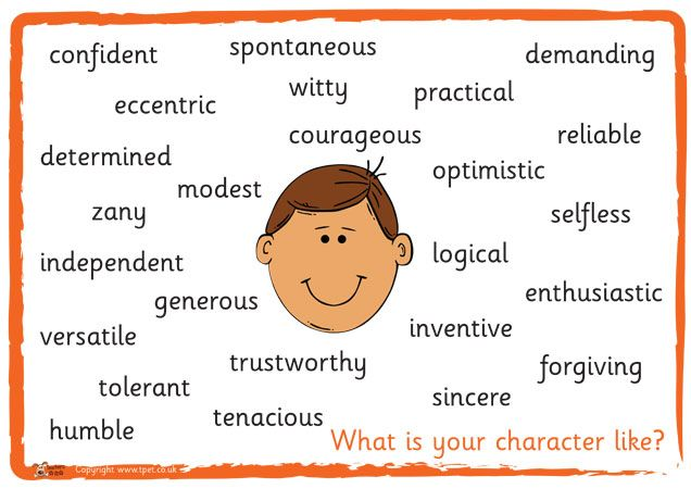 Personality Activity Poster