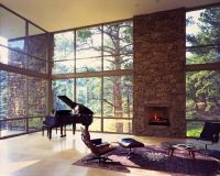 Grand Piano | Mid century modern living room, Stone ...
