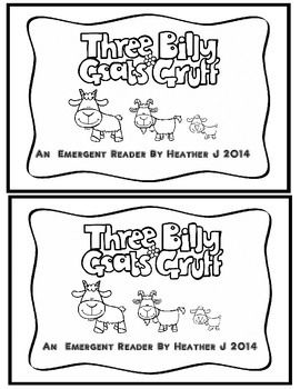 Three Billy Goats Gruff Emergent Reader / Reader's Theater