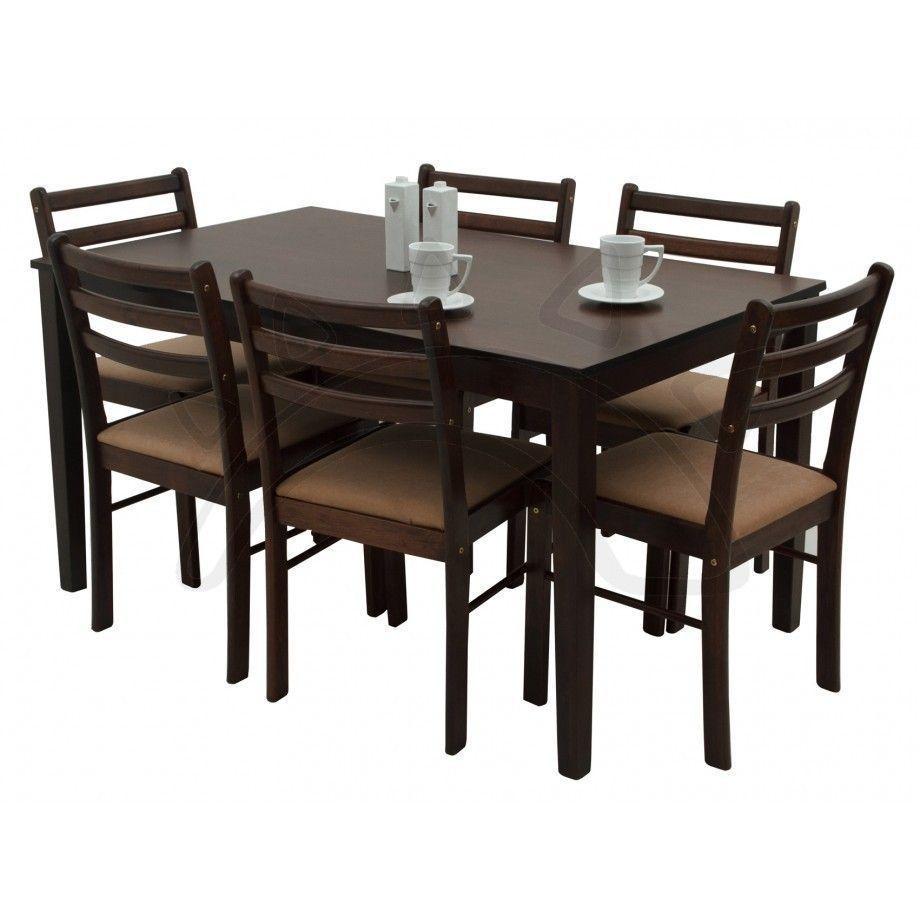 Juego de Comedor NEW STARTER6  para 6 personas hecho de madera con sillas de madera de estilo conteporneo Dimensiones Mesa Ancho 84 cm