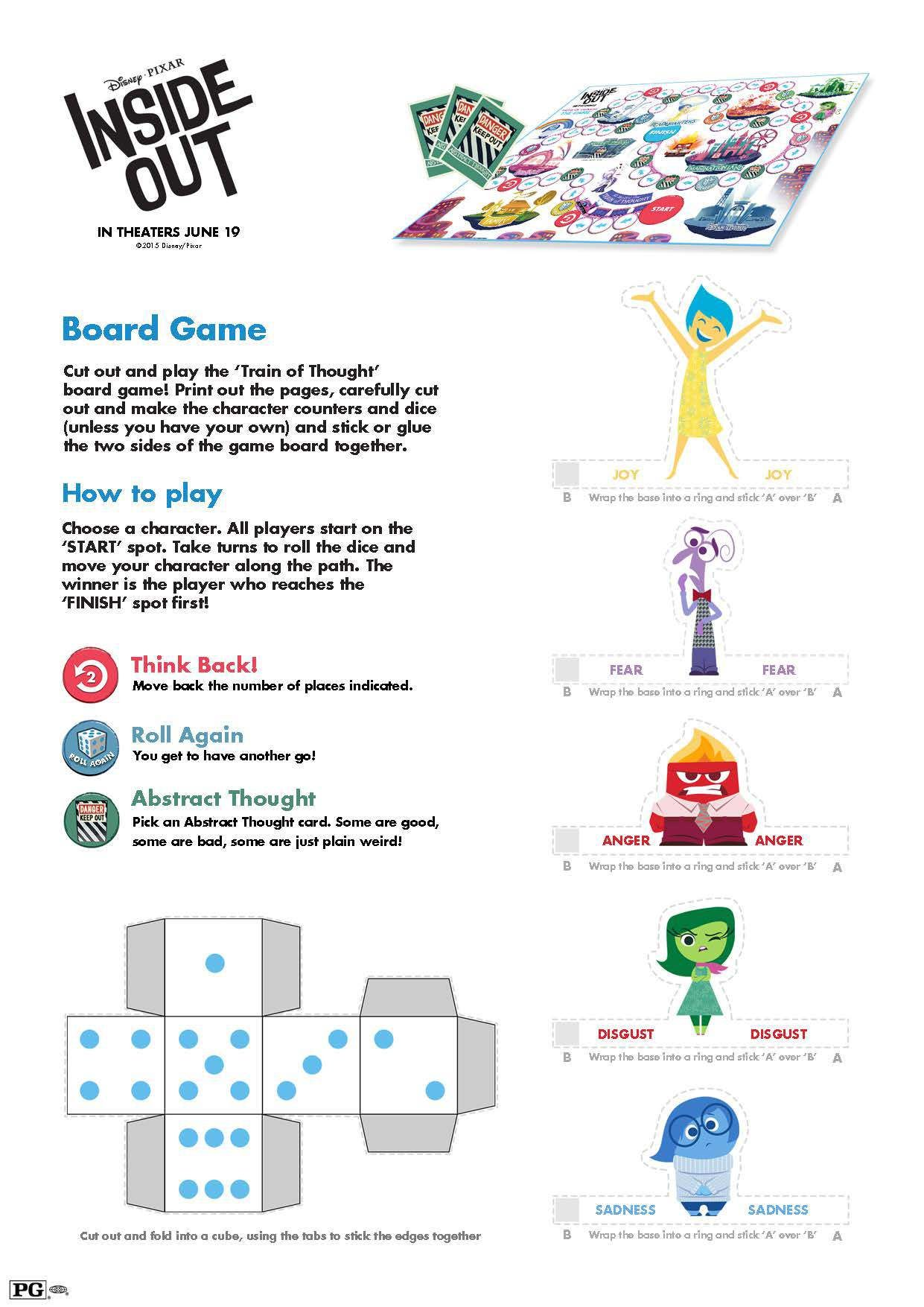 Free Printable Inside Out Board Game And Activities For Kids Insideoutevent