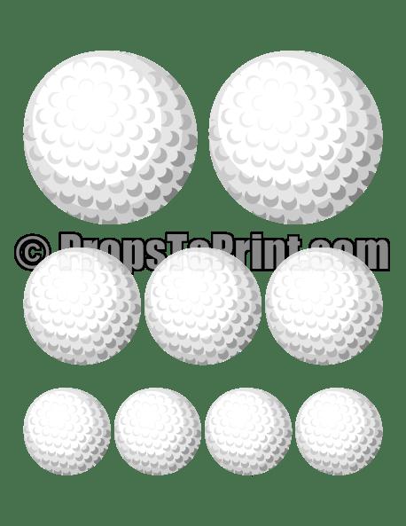 Printable golf ball photo booth prop. Create DIY props