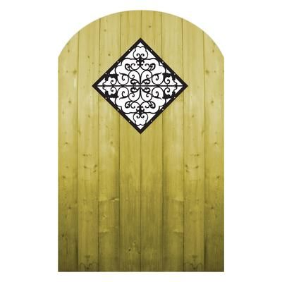 Treated Wood Gate With Decorative Insert Inserts Pinterest