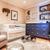 baby boy nursery decorations blue and beige nurseries ...