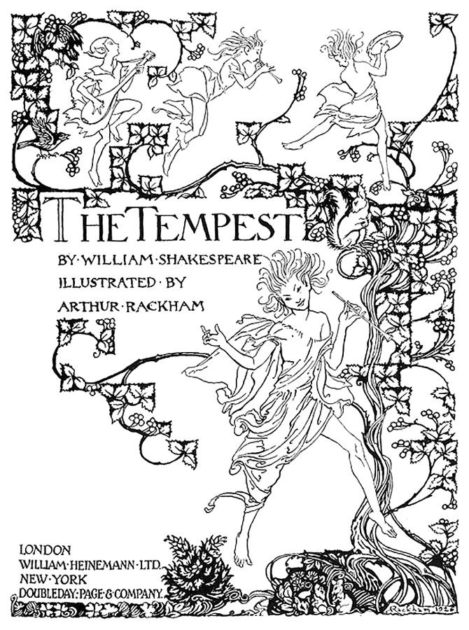 Shakespeare The Tempest Coloring Pages Coloring Pages