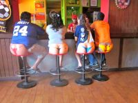 thong backed bar stools.... hahaha | made me laugh ...