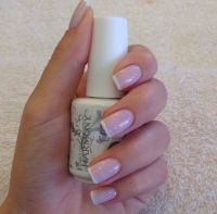 BEST looking French manicure ever. The perfect nude pink ...