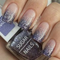 60 Glitter Nail Art Designs | Silver glitter nails ...