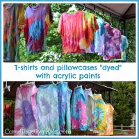 Tie Dye with acrylic paint. 1 bottle acrylic paint, fill ...