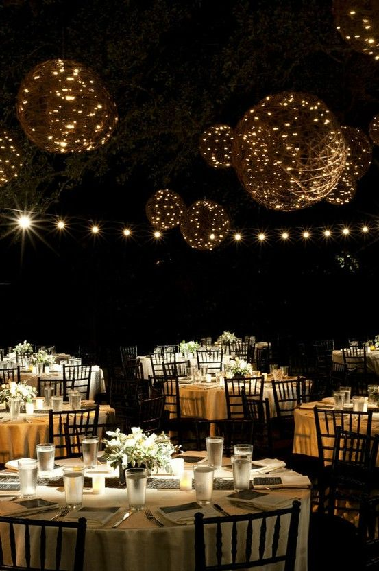 Outdoor Night Wedding Reception Decoration Ideas Receptions