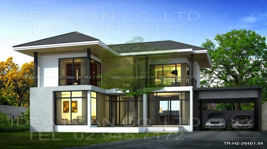 Modern 2 Storey House Plans With Garage Google Search House