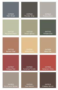 Rustic Paint Colors on Pinterest