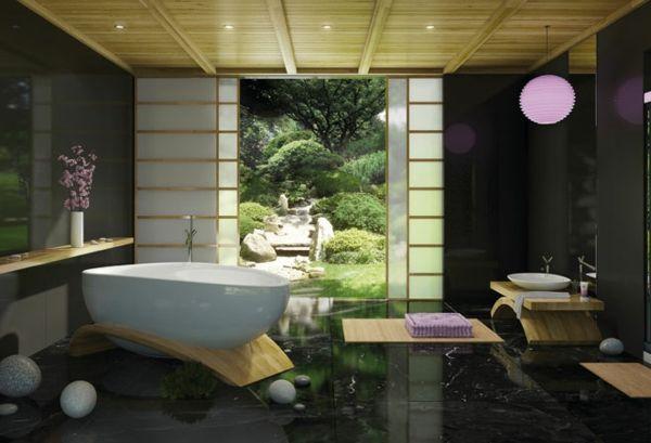 modernes badezimmer ideen japanisch  Japanische Mbel