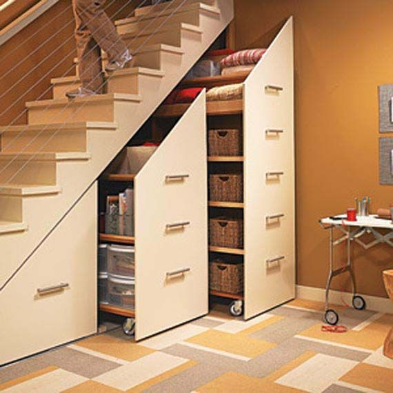 These Slide Out Cabinets Are On Heavy Duty Castors So They Can
