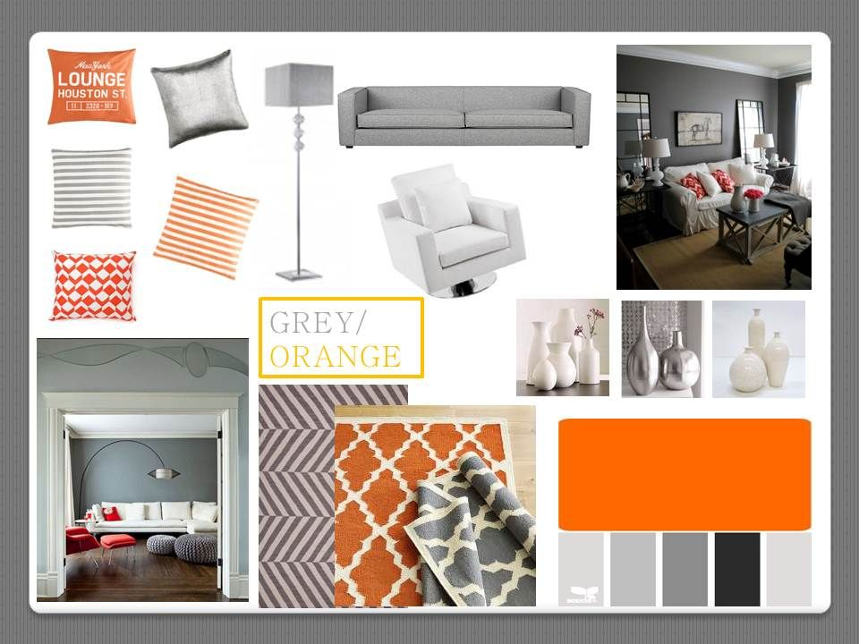 Grey and Orange Livingroom on Pinterest  47 Pins