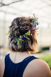 boho flower crown fall wedding