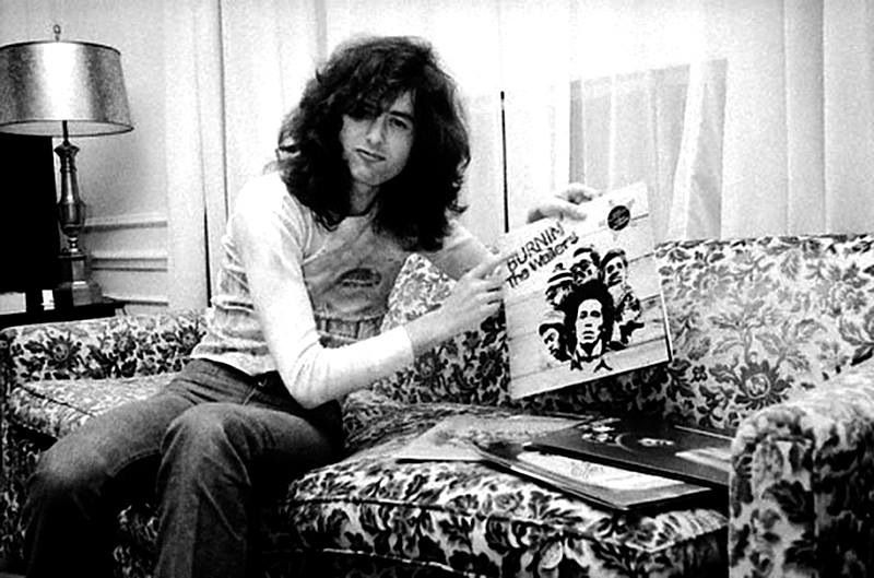 sofa chicago artists fabric cleaning machine jimmy page representing bob marley album he played ...