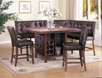 Corner Dining Set | ... Dining Set (Table, 2 Loveseats, 2 ...
