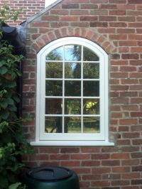 Arch Top Flush Casement Wooden Window