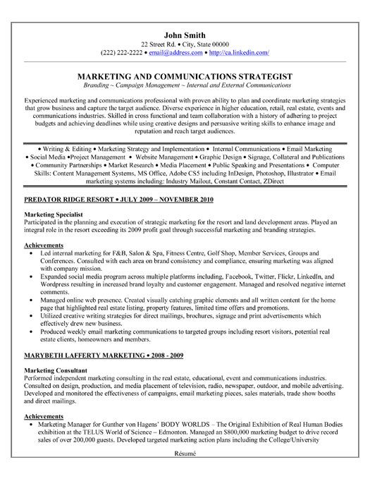 Click Here To Download This Marketing Specialist Resume
