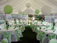 Winter indoor wedding decoration idea using green and ...