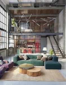 This budapesta industrial loft was designed by architects golovach tatiana  andrey kot the apartment is located in an old garment factory also and luxury rh pinterest