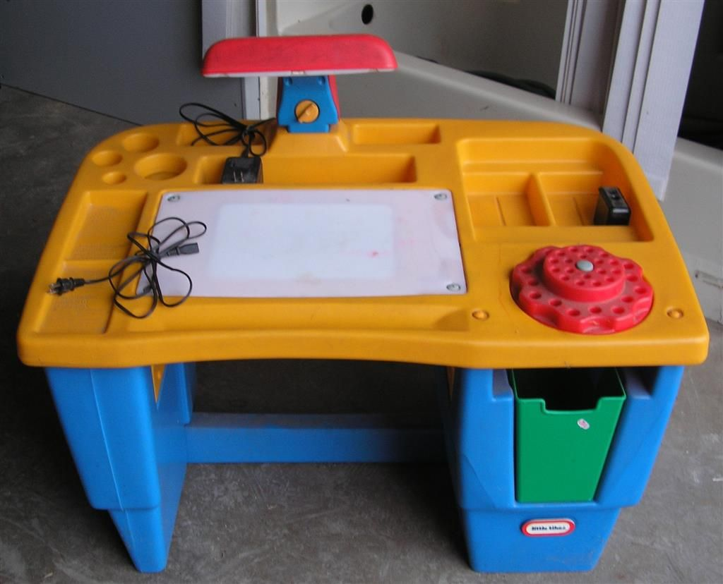 fisher price kids table and chairs folding padded seat back little tikes lighted art desk had this one