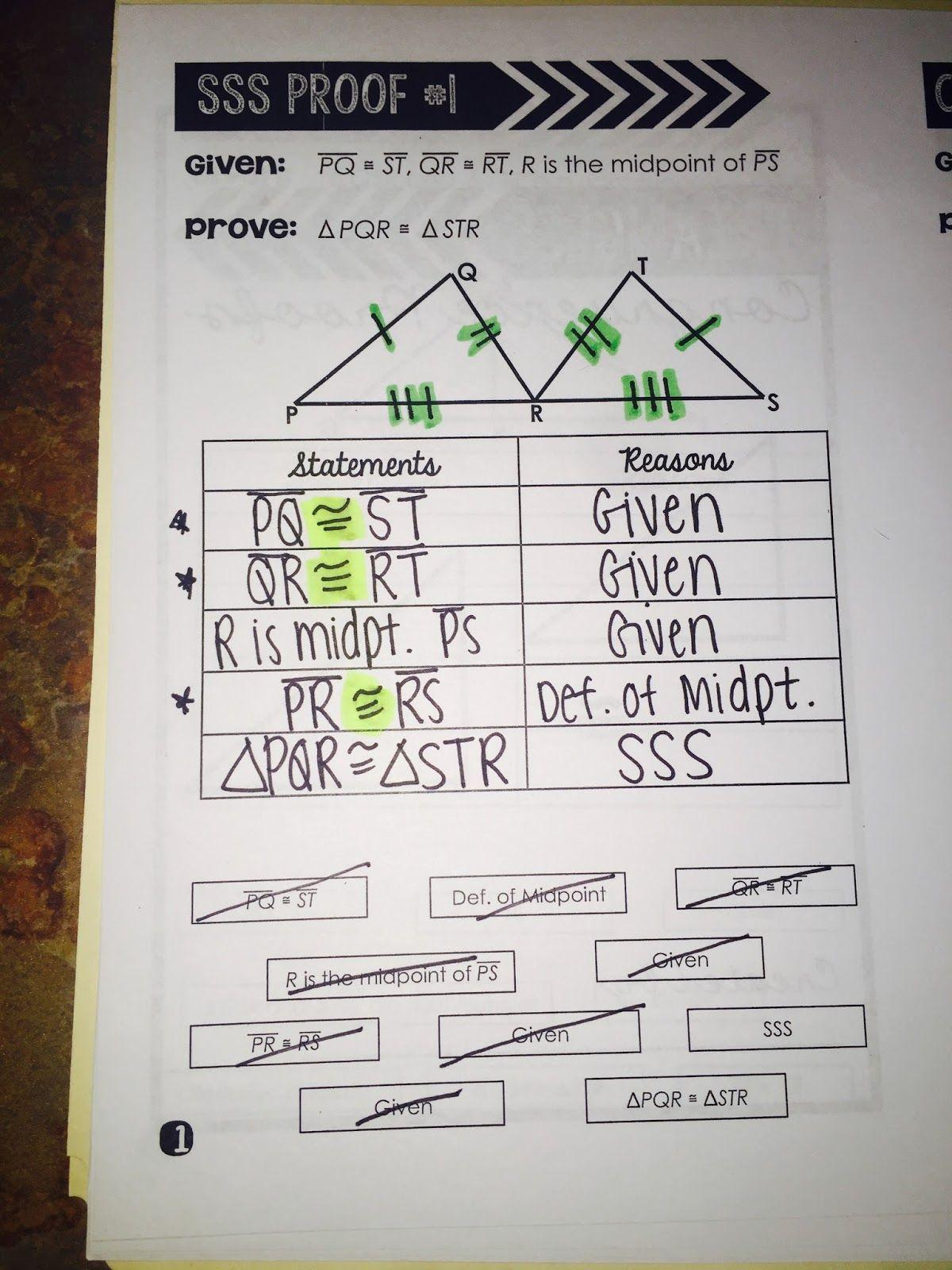 Triangle Congruence Proofs Book