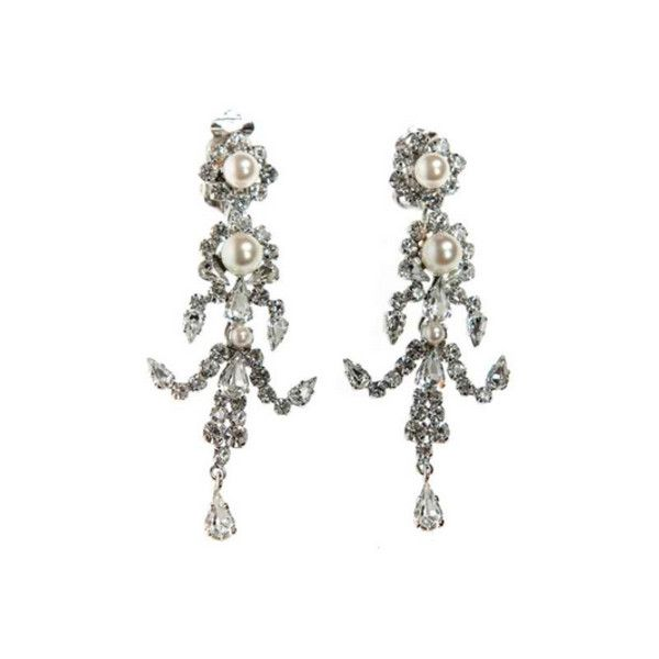 Dior Vintage Crystal Chandelier Earrings 295 Liked On Polyvore Featuring Jewelry