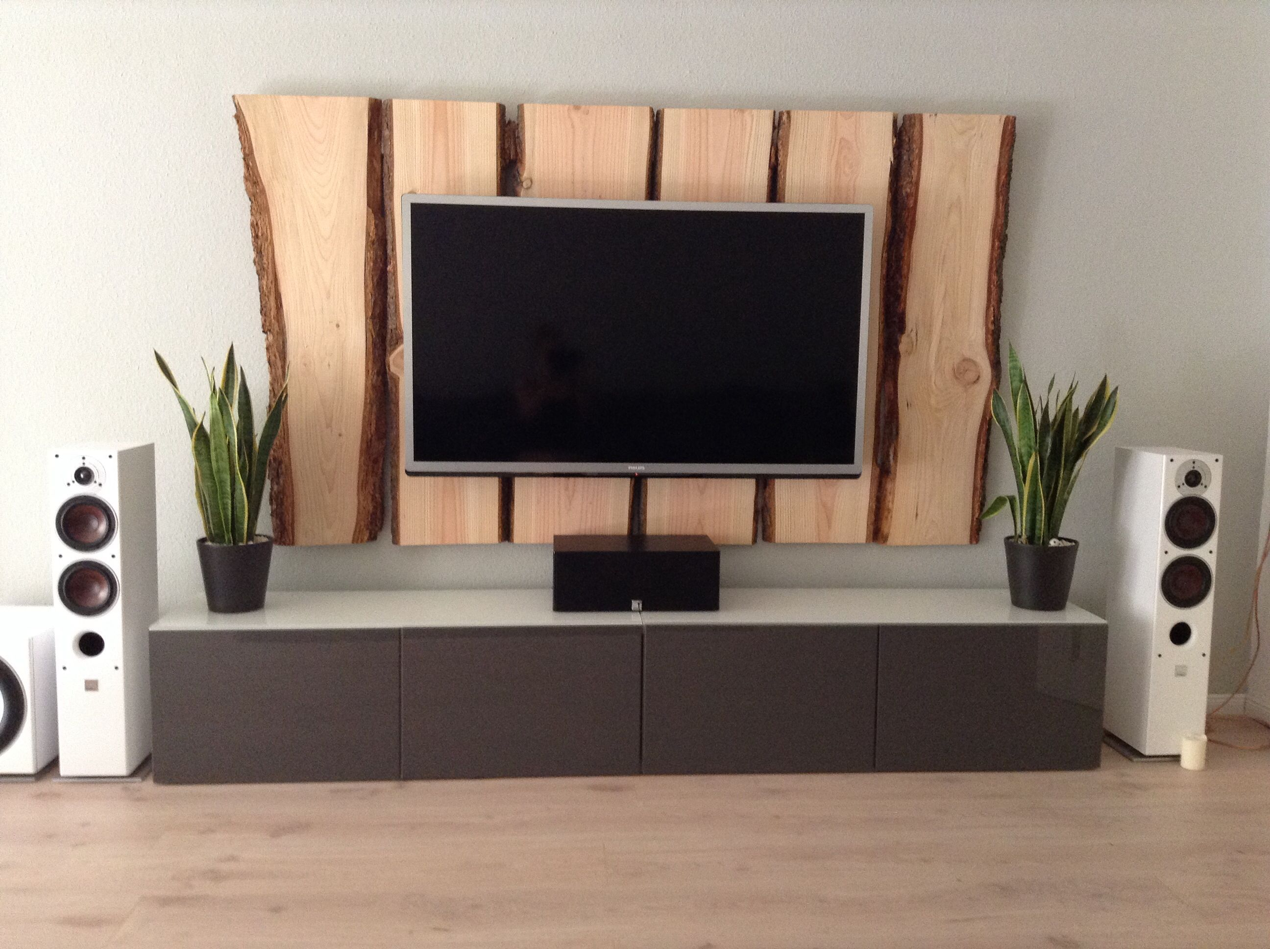 Holz Tv Wand  Tv Wall Wood  Deko Und So  Pinterest Tv
