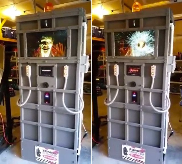 Animated Zombie Containment Unit Halloween Prop Fun Stuff