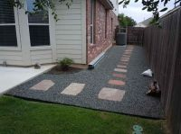 backyard landscaping with gravel ideas | photograph above ...